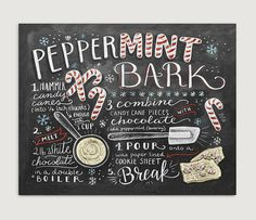 Christmas Wall Decor Christmas Kitchen Peppermint by LilyandVal