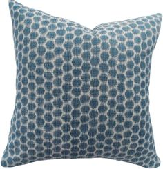 Blue Dots Ikat Decorative Pillow Cover - Kravet - Throw Pillow - Both Sides - Ikat Pillows, Modern Throw Pillows, Toss Pillows, Accent Pillows, Pattern Design, Print Design, Beige Background, Decorative Pillow Covers, Home Accessories