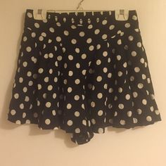 Polka dot shorts Polka dot shorts. 100% rayon.  Worn a couple times and in good condition. Xhilaration Shorts