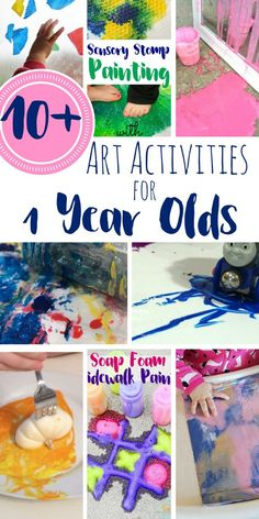 These art activities for 1 year old are safe for toddlers, and encourage them to engage with materials around them to practice so many wonderful skills.