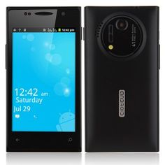 H1020 Android Phone Android 2.3 SC6820 1.0GHz 4.0 Inch 3.0MP Camera – Black