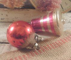 Two Vintage Pink / Redish Christmas Handpainted by vintageaddie