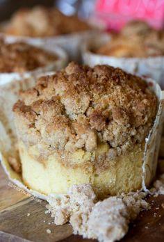 Coffee cake cupcakes:)