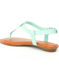 Mint To Be:Gianni Bini Lyla T-Strap Sandals