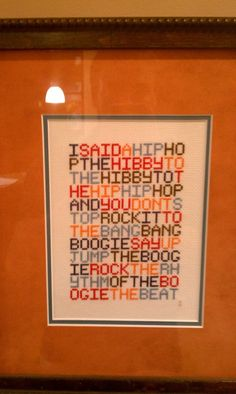 Hip Hop Cross-Stitching FTW