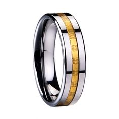 gold carbon firber inlaid Tungsten ring  price:$399