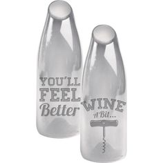 Large Wine a Bit You'll Feel Better Wine Bottle Cork Holder and Carafe