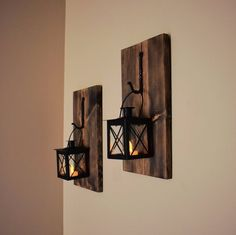 Hanging Lantern Sconce, Rustic Wall Sconce, Decorative Lanterns, Wall Candle Holder, Hanging Lantern Decor, Rustic Wall Decor, Black Lantern