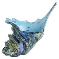 Pier 1 Conch Shell Art Glass