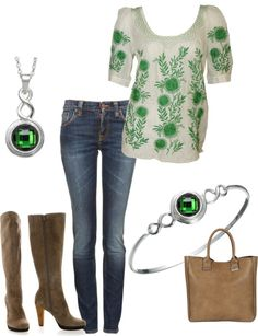 """Emerald Isle KJP159"" by jewelpop on Polyvore"