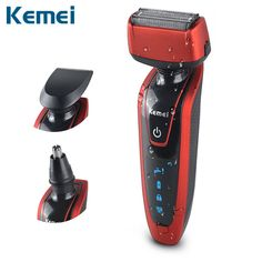 Kemei 3in1 Electric Shaver Shaving Machine Reciprocating Razor Shaver/Nose Trimmer/Sideburn Cutter Multifunctional Men's Shaver #Affiliate