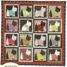 Scrappy Scotties Quilt Quilting Pattern Instructions | eBay