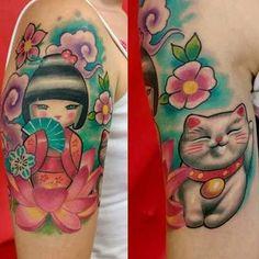Resultado de imagem para kokeshi tattoo