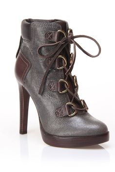 Tory Burch Lawson Booties In Ash & Coconut