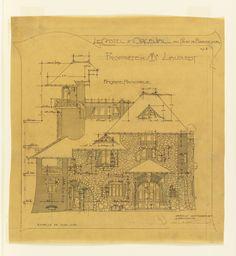 Drawing, Le Castel D'Orgeval au Parc de Beausejour, no. 6, 1904
