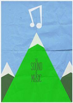 Sound of Music minimalist poster