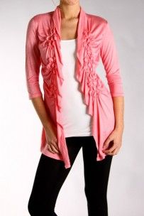 Ruched Detail Cardigan