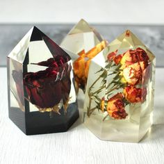 A little sneak peak as to what is coming! Rose crystals Roses in crystal clear resin. Perfect decor for your home. Handmade by WoodAllGood. #WoodAllGood www.woodallgood.etsy.com