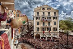 Corfu at the New Year time celebration Hillside Village, Greece Rhodes, Corfu Town, Corfu Island, People Of The World, Greek Islands, Amazing Photography, Scenery, Places To Visit