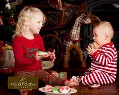 HaHa! Eating Santa's cookies :)