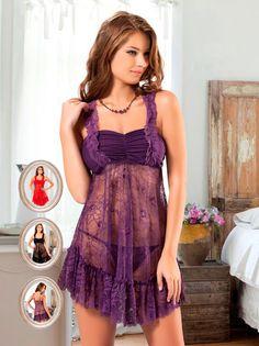 New Night İç Giyim Dantelli Tül Gecelik | Fantazigiyim.com. #fantazi #giyim #fantasy #lingerie #sexy lingerie #seksi iç giyim
