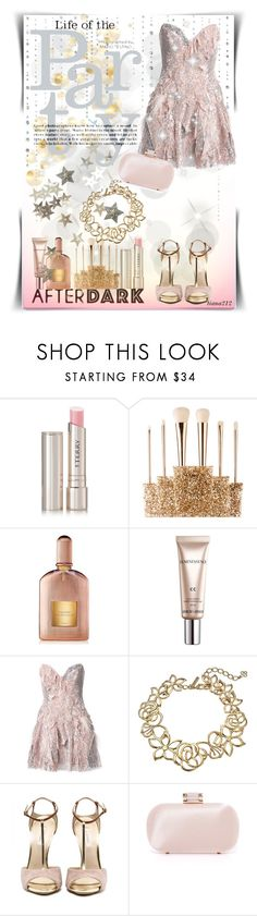 """""""After dark: Strapless dress"""" by tiana212 ❤ liked on Polyvore featuring By Terry, Sephora Collection, Tom Ford, CC, Trash-Couture, Oscar de la Renta and Inge Christopher"""