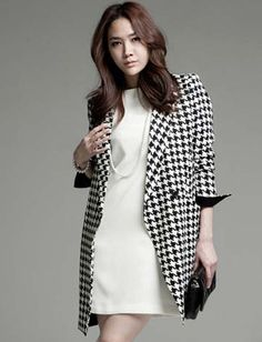 Cool Classic Houndstooth Wool Jacket Blazer