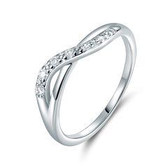 666578dbcf274 2.59AUD - Elegant Twist Ribbon Infinity Pave Diamond Silver White Gold  Filled Women Rings
