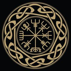 Viking and Norse Symbols and Meanings – Norse Mythology-Vikings-Tattoo Viking Compass Tattoo, Viking Tattoo Symbol, Pagan Tattoo, Norse Tattoo, Celtic Tattoos, Viking Tattoos, Wiccan Tattoos, Indian Tattoos, Runic Compass