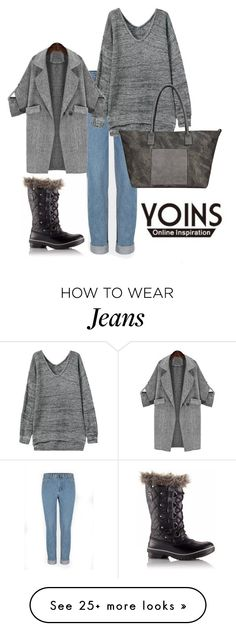 """YOINS"" by hanifasemic on Polyvore featuring SOREL and yoins"