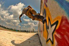 Running up a wall   - by Matteo Damiani