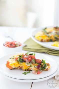 Chorizo Kale and Sweet Potato Frittata - a one-pot meal using only five simple ingredients! Plus, tips for easy meal planning and cooking more from home!