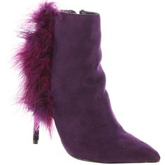 Michael Antonio Salley Women's Purple Boot ($65) ❤ liked on Polyvore featuring shoes, boots, ankle booties, purple, purple boots, bootie boots, purple ankle boots, zipper ankle boots and purple booties