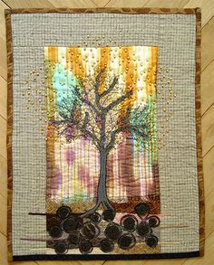 #tree #quilt - so gorgeous. This color combination speaks to my heart