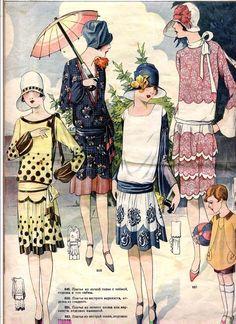 "girlwithhatbox:    ""Моды Сезонa""/Fashions of the Season, 1929  Source"