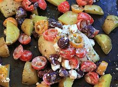 Gluten-Free Sheet Pan Chicken and Potatoes With Fresh Greek Salsa  This one is Yummy AND HEALTHY!