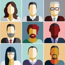 People icons. People Flat icons collection