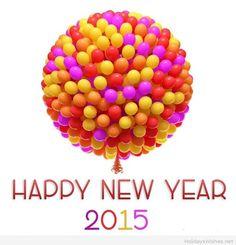 Happy new year ballons 2015