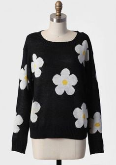 daisy pop print sweater at ShopRuche.com