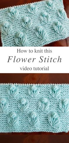 This lovely knitting flower stitch is so creative and decorative for many projects. Learn how to work this lovely knitting pattern by watching this tutorial! WHAT CAN YOU DECORATE WITH KNITTING FLOWER Knitting Designs, Knitting Patterns Free, Knit Patterns, Free Knitting, Knitting Projects, Crochet Projects, Knitting Tutorials, Knitting Ideas, Crochet Video