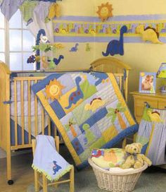 Dinosaur Nursery Themes Day When We Did Our Registry At Babies R Us Liked The Dino Theme Someday Pinterest Baby And Cribs