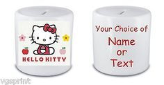 #Hello kitty  #money box / piggy bank any name or text #printed fast postage,  View more on the LINK: http://www.zeppy.io/product/gb/2/281719891523/