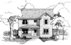 Elevation of Bungalow   House Plan 72742