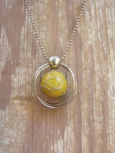 Wire-Wrapped Marble Necklace Tutorial