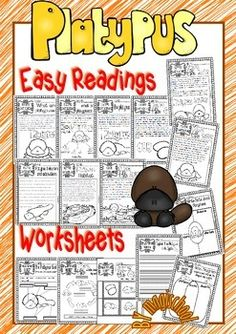 PLATYPUS  READY TO PRINT EASY READINGS AND WORKSHEETS