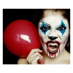 Fancy Dress Makeup / Evil Clown halloween Makeup - Polyvore
