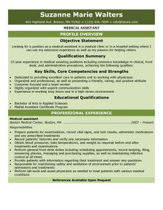 Resumes For Medical Assistants This Resume Can Be Used For A Student Medical Assistant Who Has Not .
