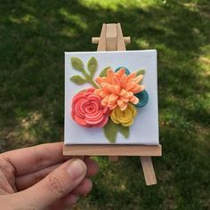 I'm planning on making more of these cute little canvases very soon! Anyone have any color suggestions or would you just like to be able to order and choose your own colors? Thoughts welcomed . This one is already sold and shipping out tomorrow.