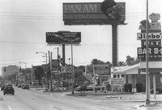 Jimbo's Pit Bar B-Q fans will recognize this 1985 photo looking west on Kennedy Boulevard in Tampa.