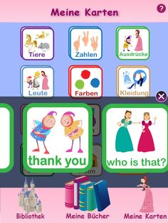 Englisch mit Spaß: free iPad/iPhone app for German-speaking kids who are learning English